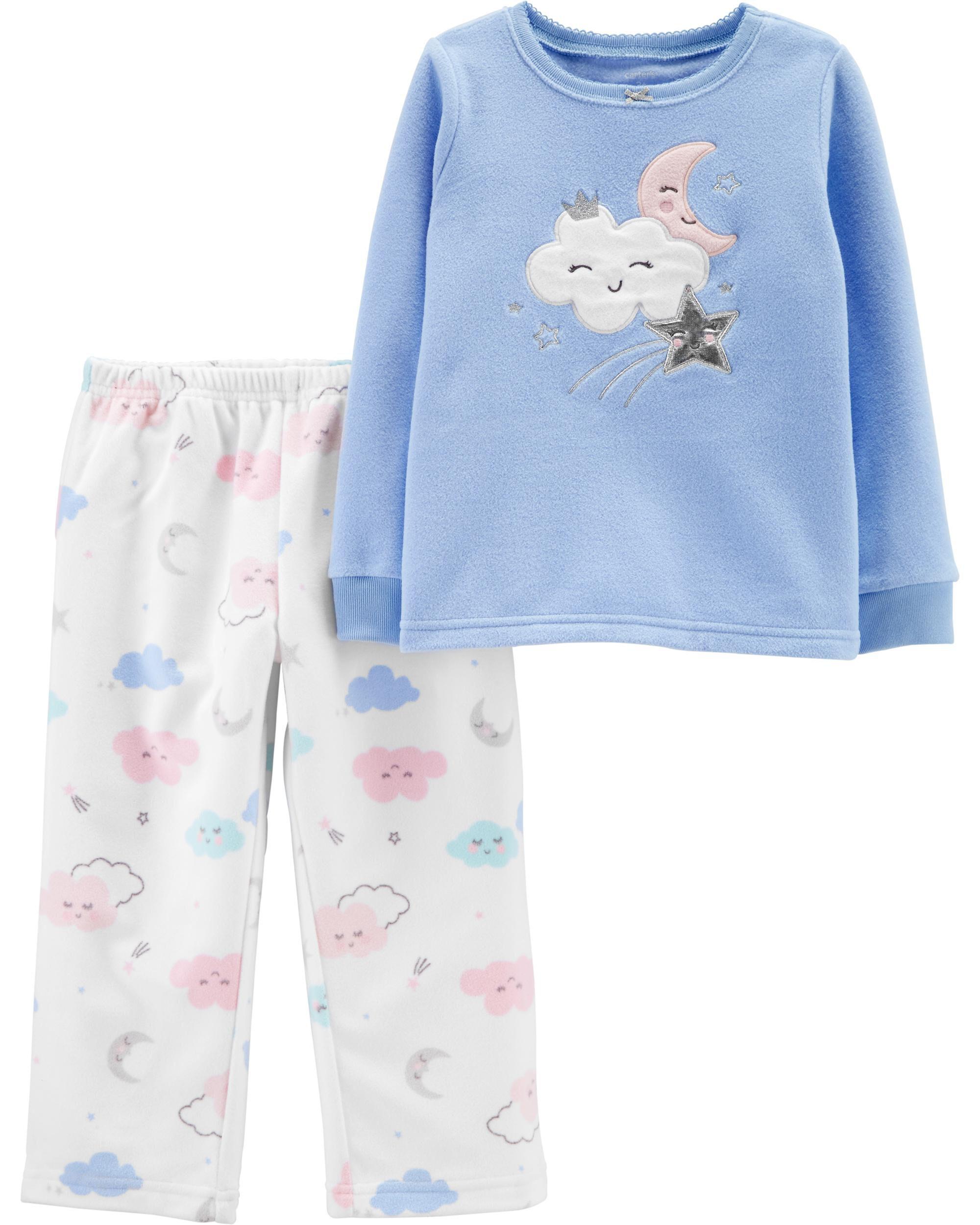 *CLEARANCE* 2-Piece Cloud Snug Fit Cotton & Fleece PJs