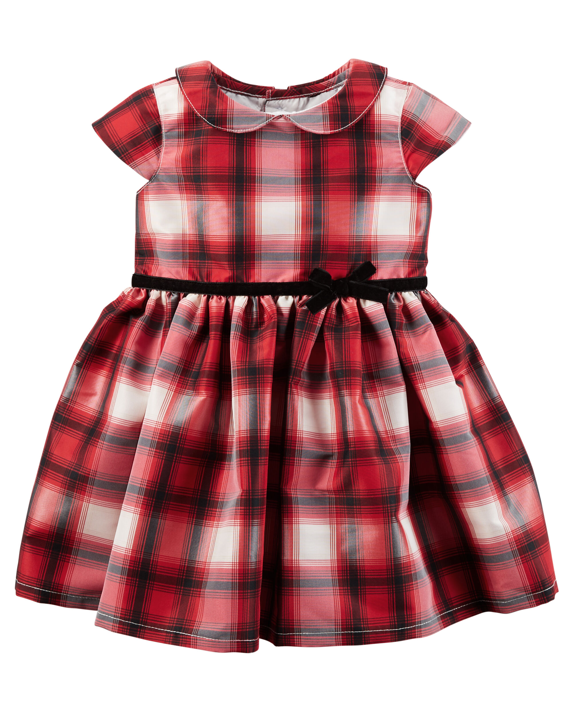 Plaid Tafetta Dress