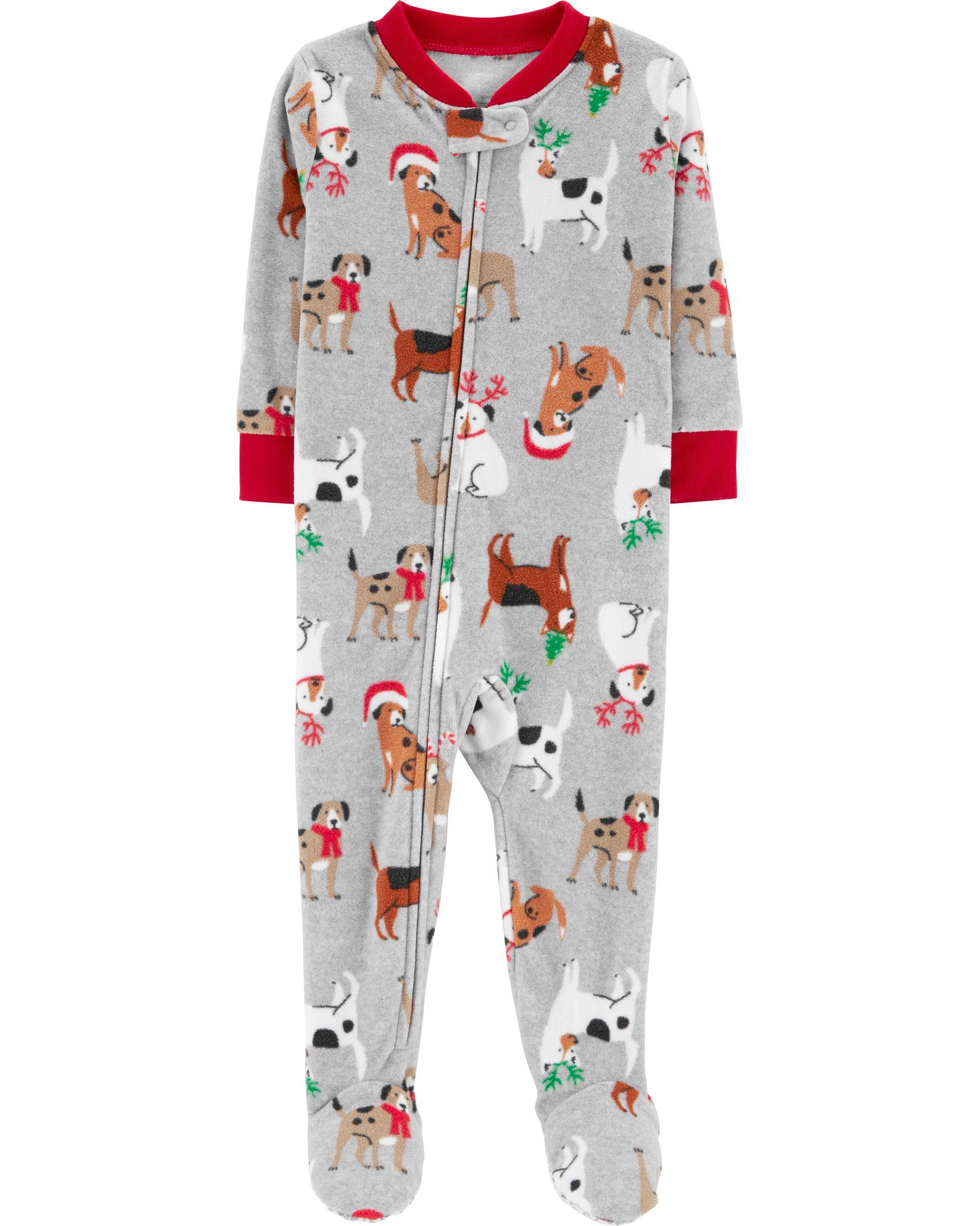 1-Piece Christmas Dog Fleece PJs   Carters.com