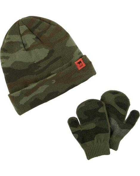 Camo Hat   Mitten Set  1076d9c476a