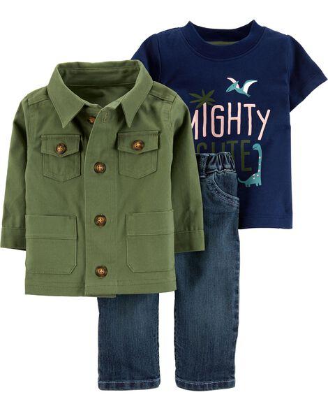 3-Piece Jacket & Jean Set