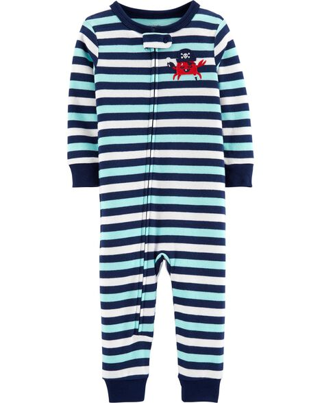 df7cf9745 1-Piece Crab Snug Fit Cotton Footless PJs