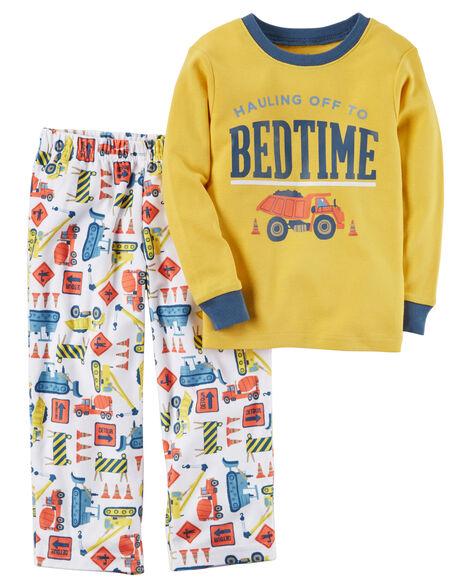 14d9e731b 2-Piece Construction Cotton   Fleece PJs