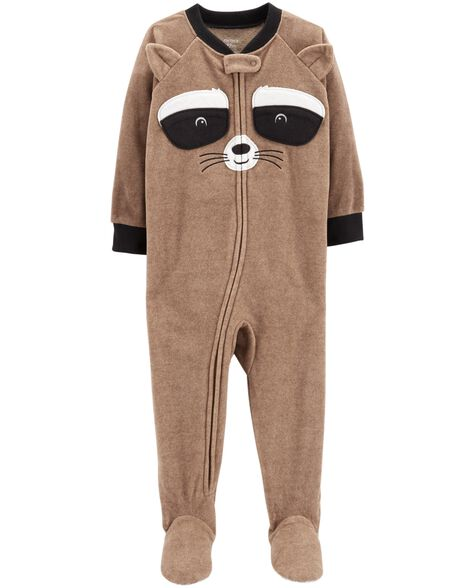 3abf0bbfbe 1-Piece Raccoon Fleece PJs ...