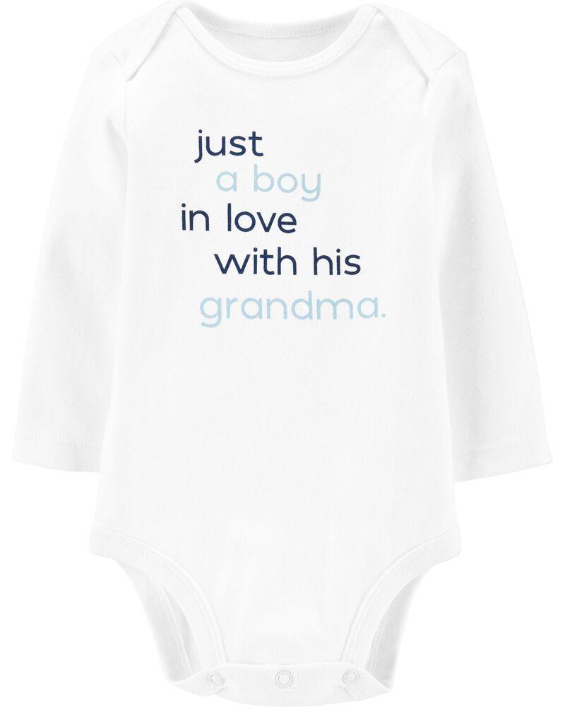 Baby Vest This Boy Loves Grandma Bodysuit