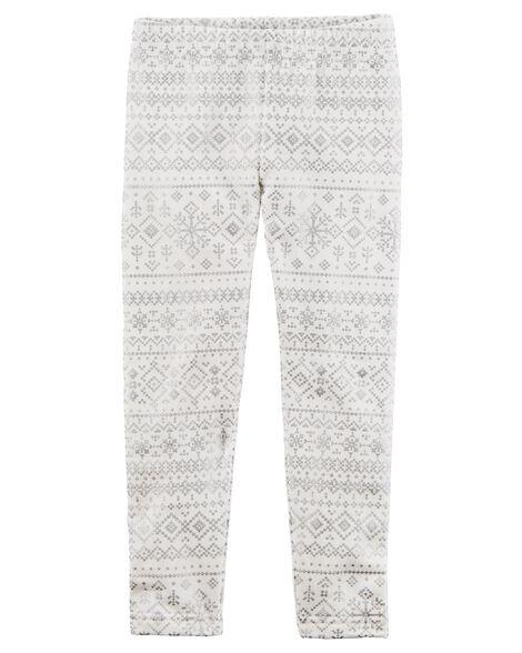 41c6164d9 Snowflake Cozy Fleece Leggings