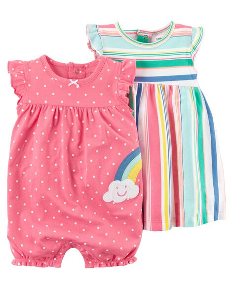 3-Piece Dress & Romper Set