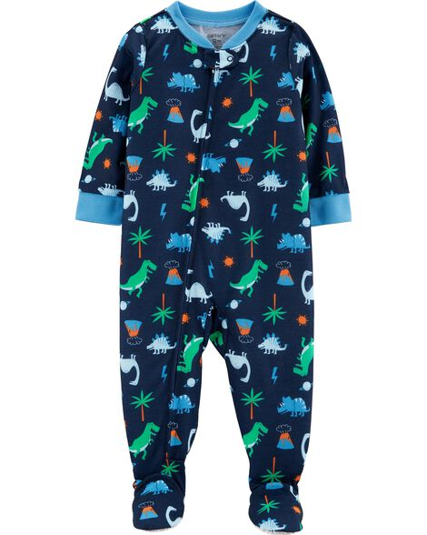 112977f85 1-Piece Dinosaur Footed Poly PJs