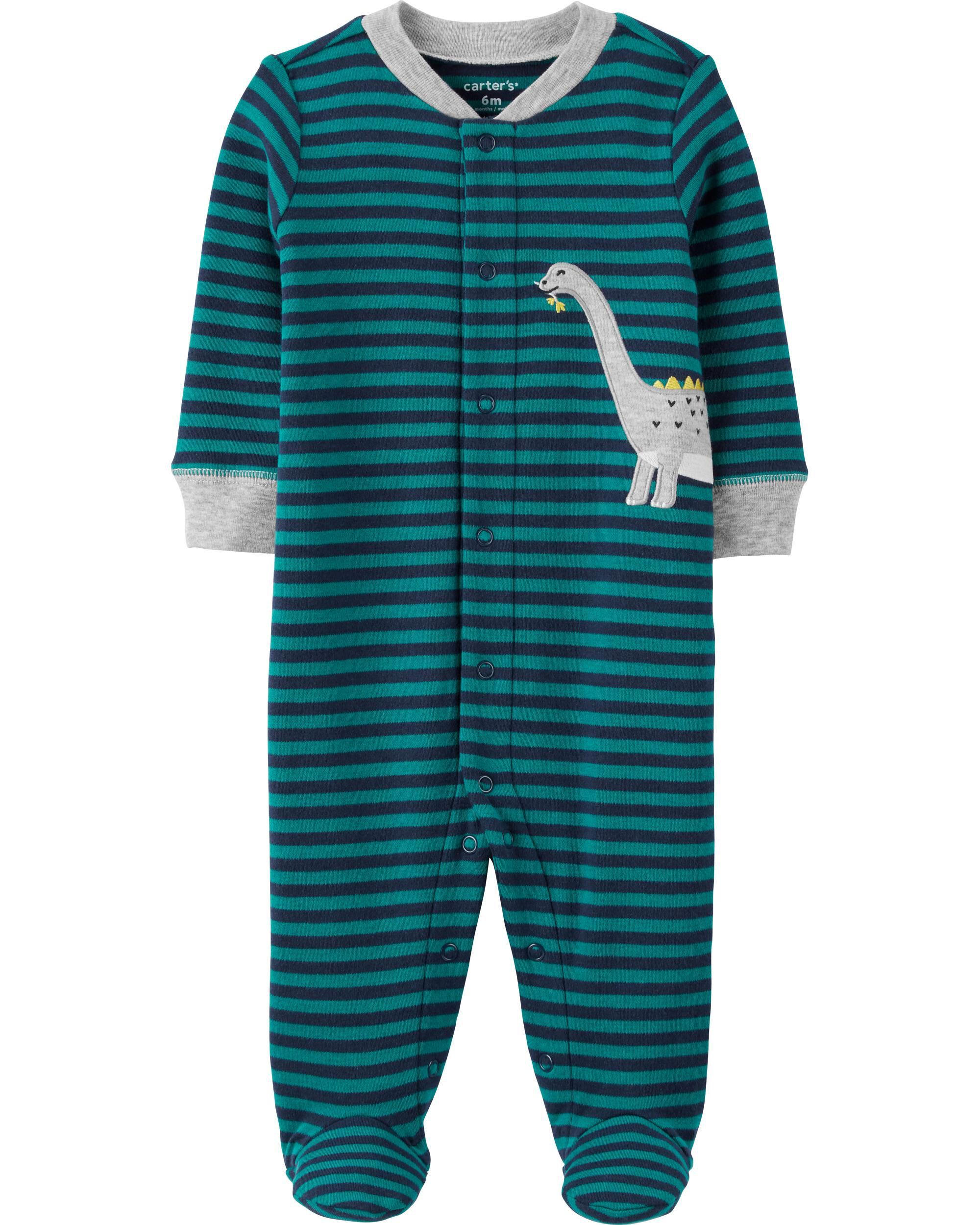 *CLEARANCE* Dinosaur Snap-Up Cotton Sleep & Play