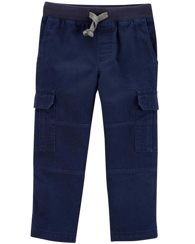 Carters Pull-On Reinforced Knee Pants with Drawstring Navy-Navy