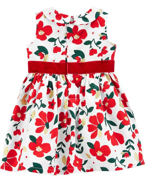 5c7b72841beb1 Floral Sateen Holiday Dress; Floral Sateen Holiday Dress ...