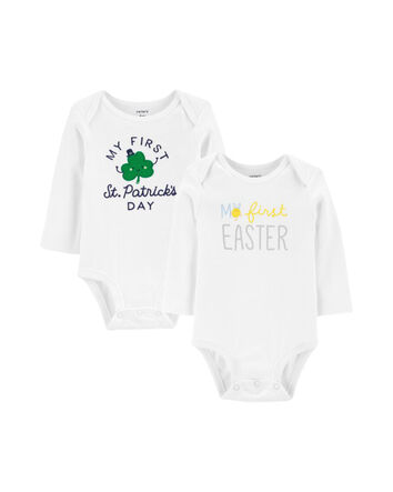 NIHINTE Fathers Day Baby Girls Romper Long Sleeve Onesie
