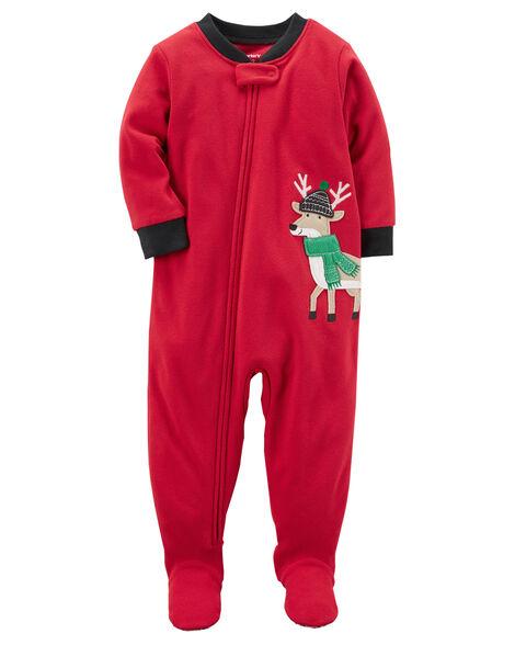 44e2eea0e 1-Piece Reindeer Fleece PJs