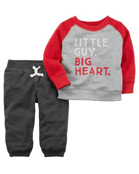 acf804814 2-Piece French Terry Top & Pant Set | Carters.com