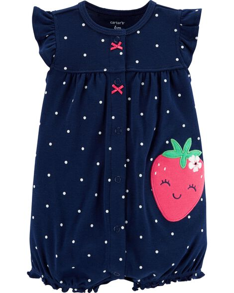 c0fc017aa22 Images. Strawberry Snap-Up Romper