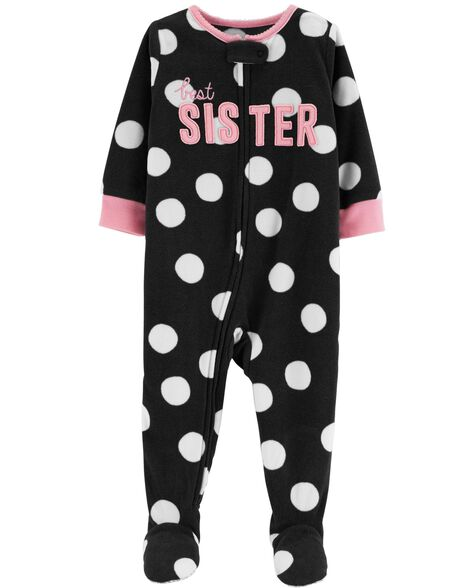 a1c4be3177 1-Piece Little Sister Fleece PJs ...