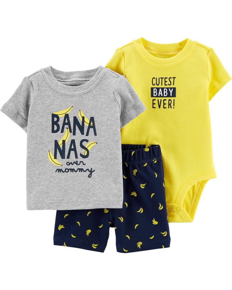 Carters Baby Boys 3-Piece Little Short Sets