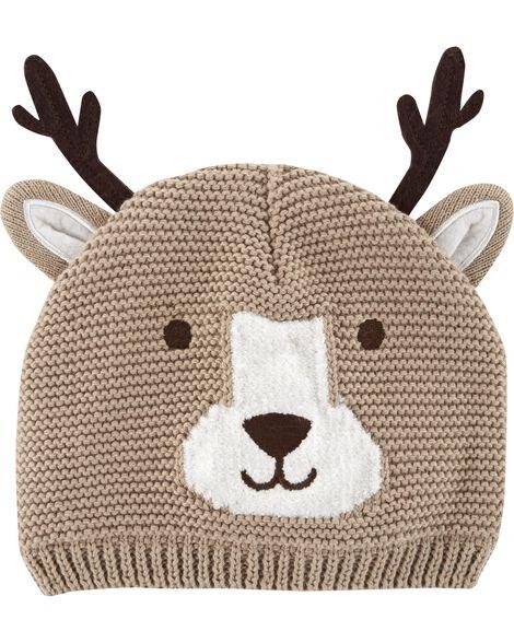 1caa83592c7 Images. Reindeer Knit Hat