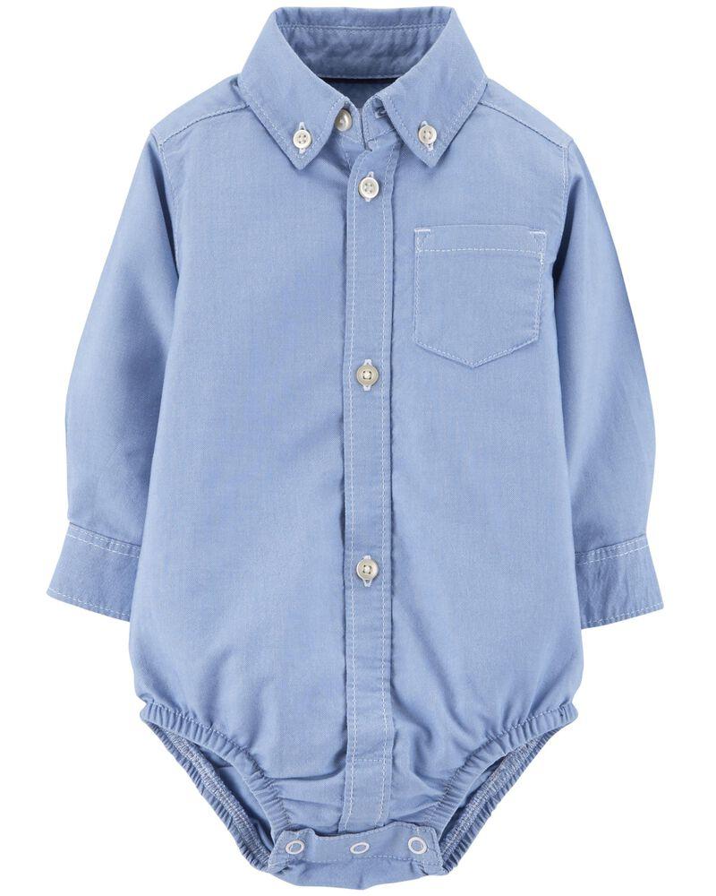 Carters Baby Boys Button Front Cotton Bodysuit