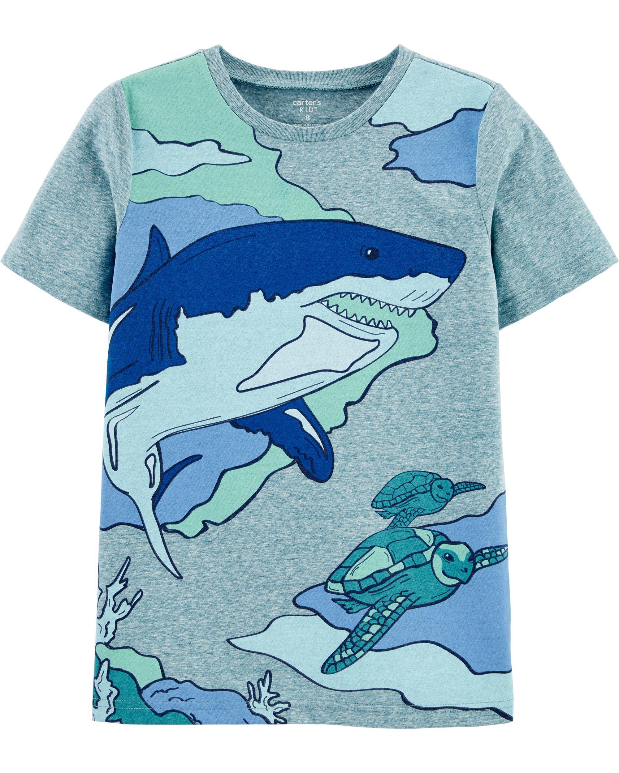 *CLEARANCE* Shark Snow Yarn Jersey Tee