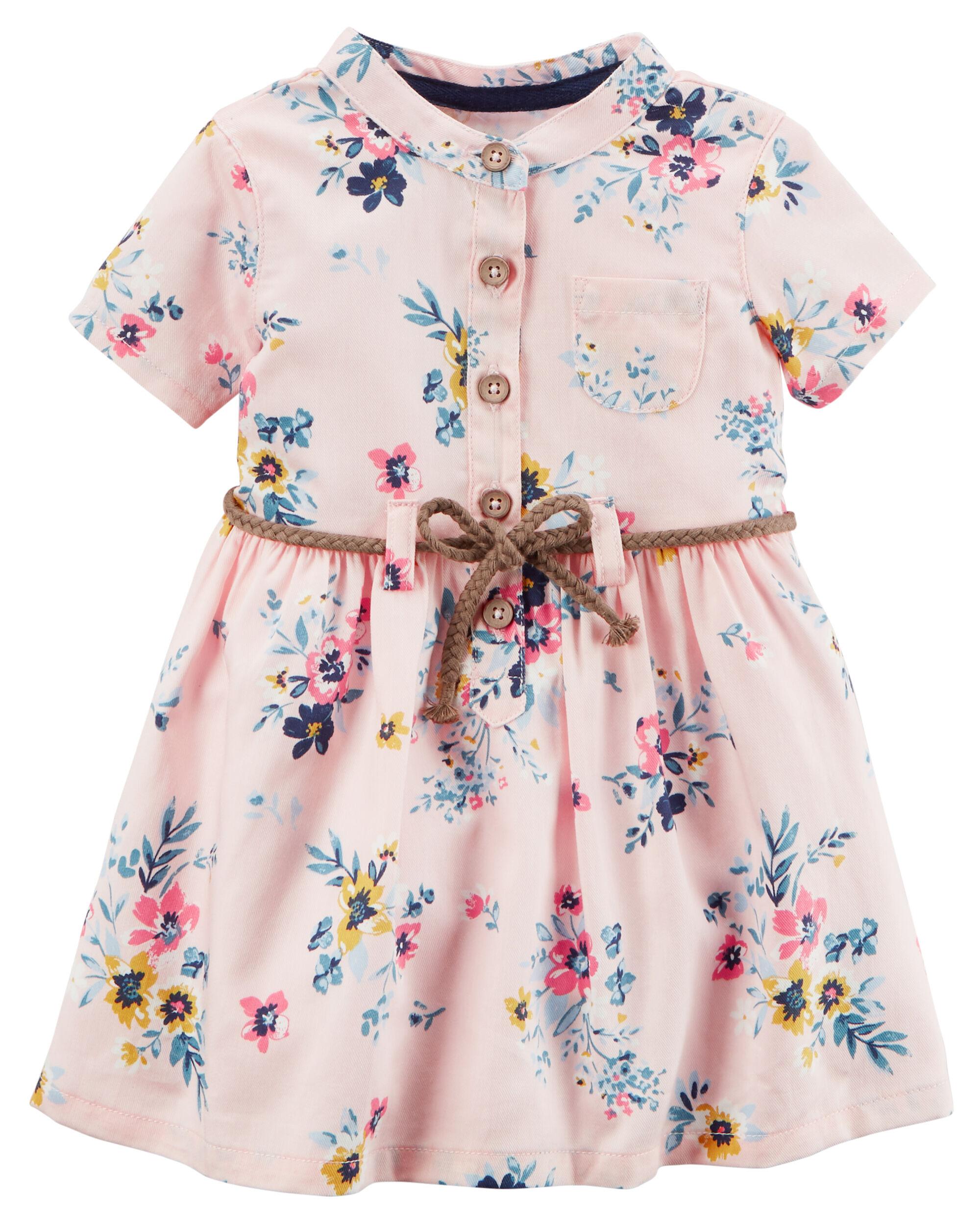 Floral Twill Shirt Dress | Carters.com