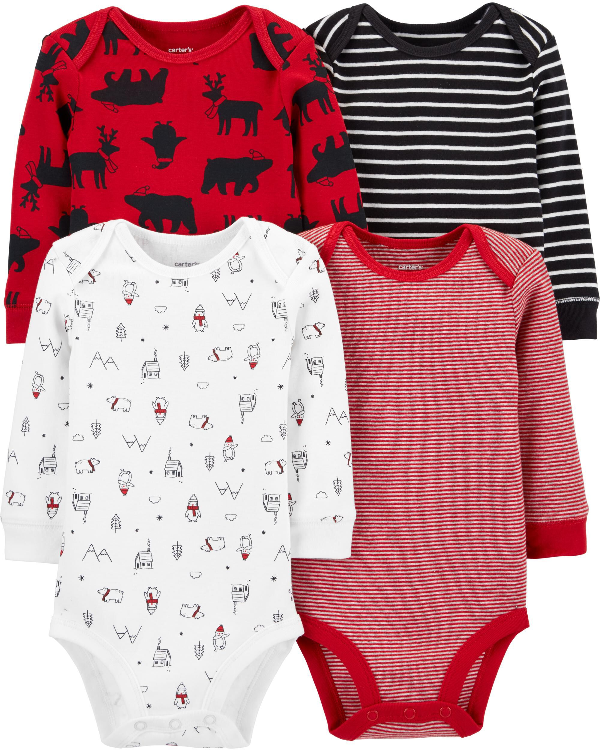 *CLEARANCE* 4-Pack Holiday Original Bodysuits