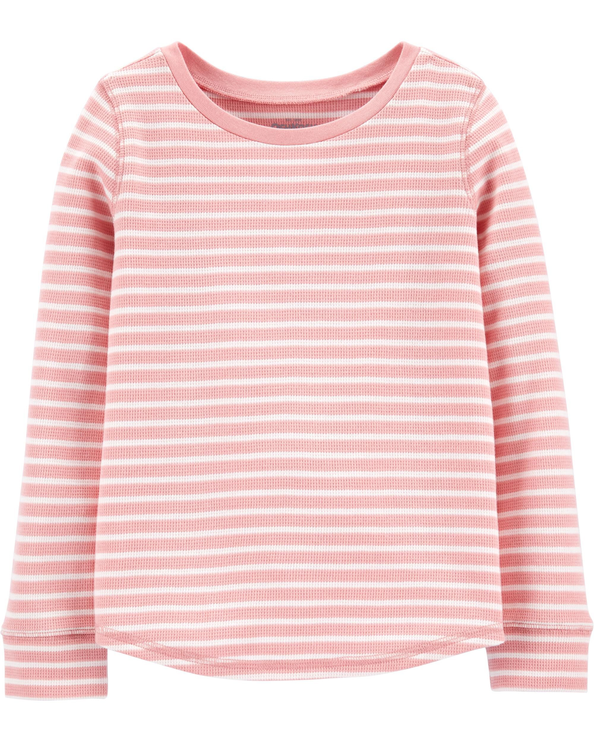 *CLEARANCE* Scoop Hem Striped Thermal Top