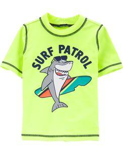 4e996c05a Carter's Neon Shark Surf Patrol Rashguard