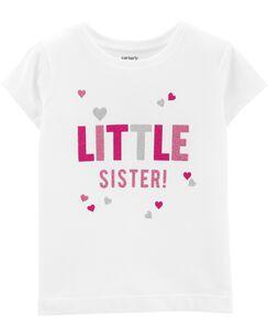 Glitter Little Sister Jersey Tee