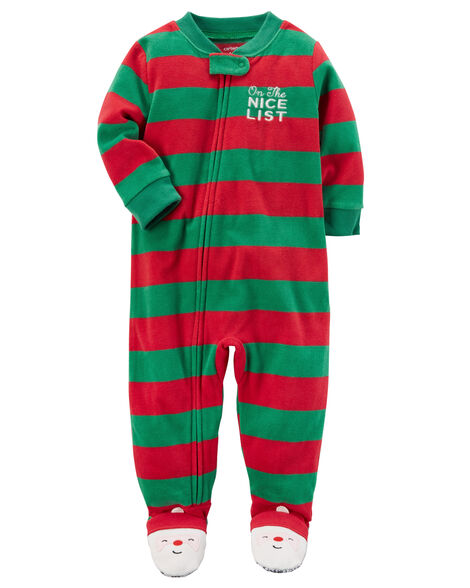 Zip-Up Christmas Fleece Sleep & Play