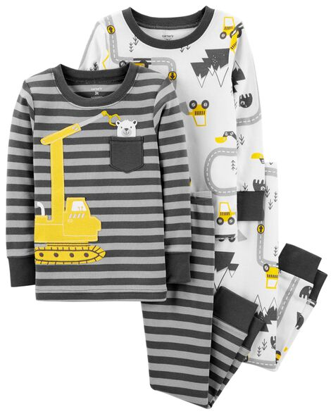 17df10f4169a 4-Piece Construction Snug Fit Cotton PJs