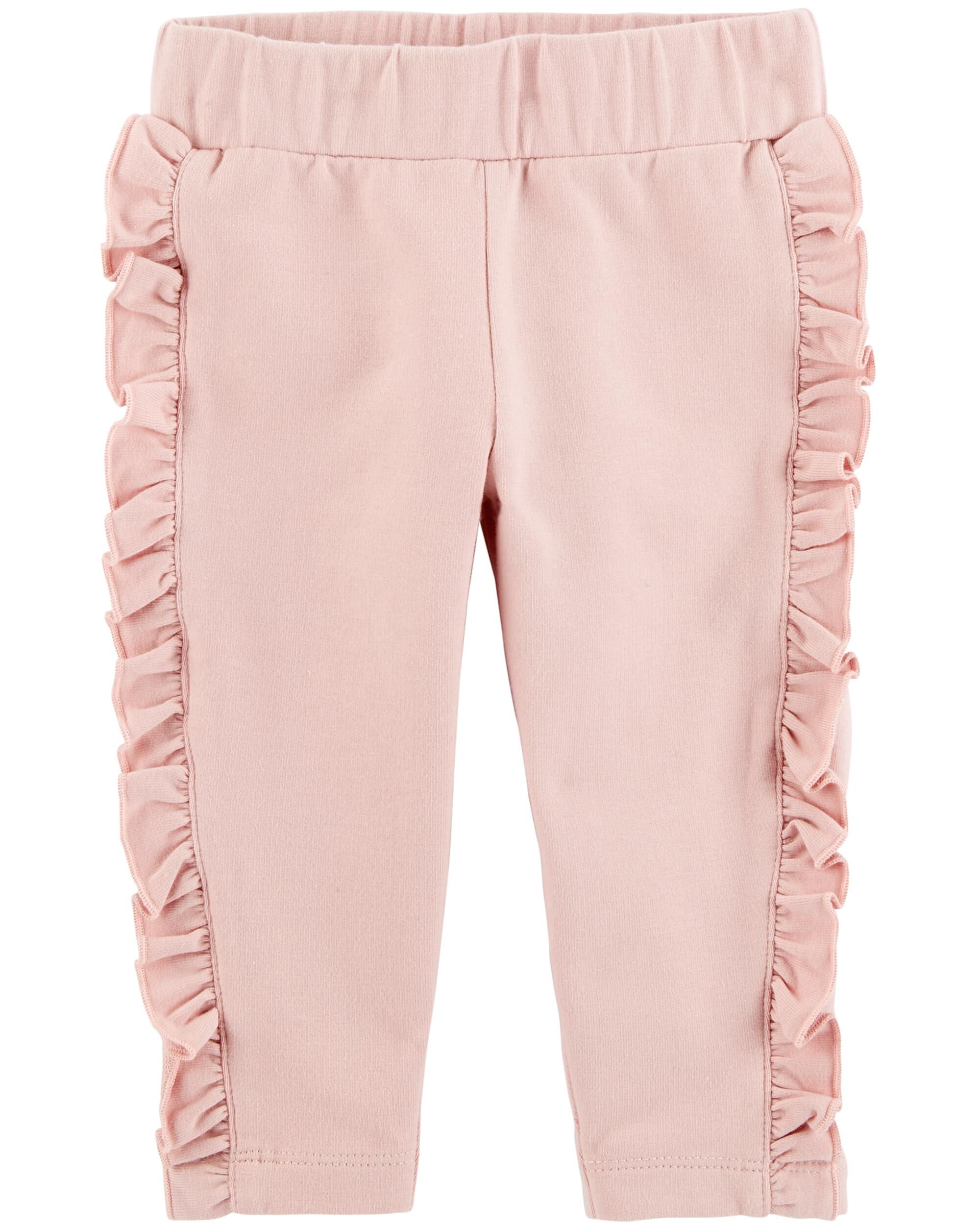 24m, Pink Carters Baby Girls French Terry Jeggings Pants