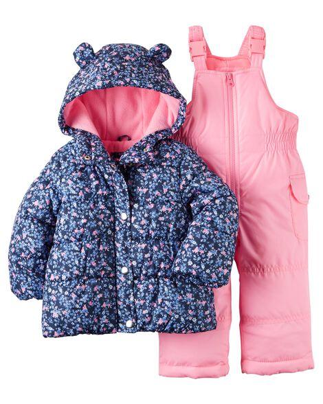 6af34c725 Floral Snowsuit Set