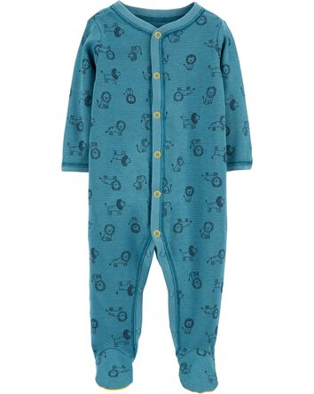 6 Month White Blue Carters Baby Boys Snap Up Cotten Sleeper Set of 2