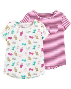 b2763613d Baby Girl Shirts: Tops & T-Shirts | Carter's | Free Shipping