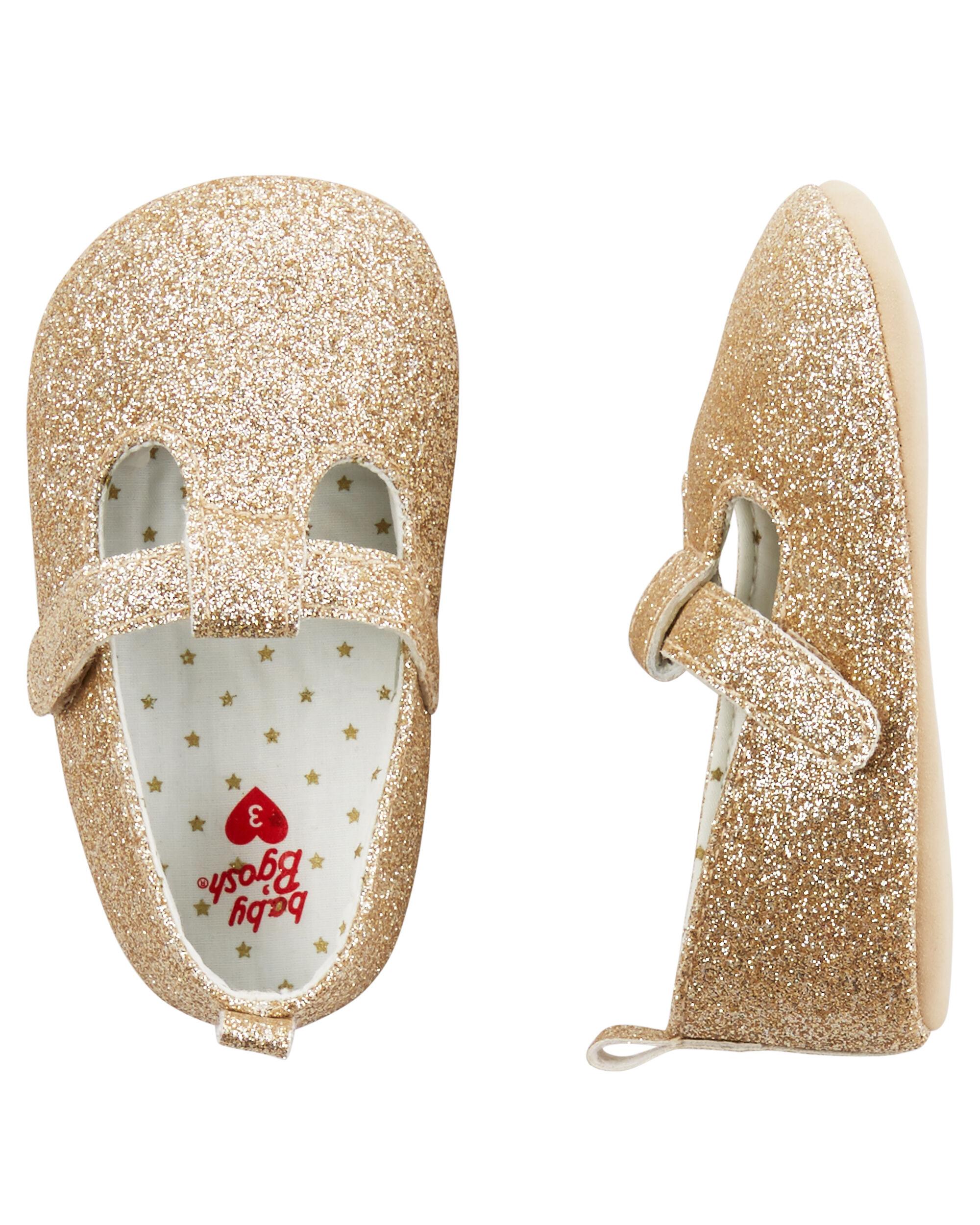 Baby Girl OshKosh Sparkle Mary Jane Crib Shoes
