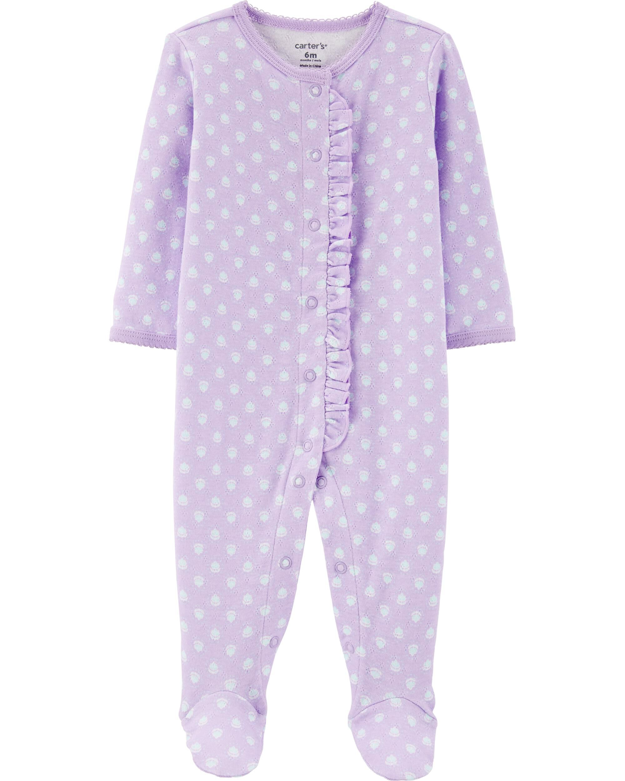Floral Snap-Up Cotton Sleep & Play