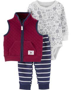 760a1629 3-Piece Sports Little Vest Set
