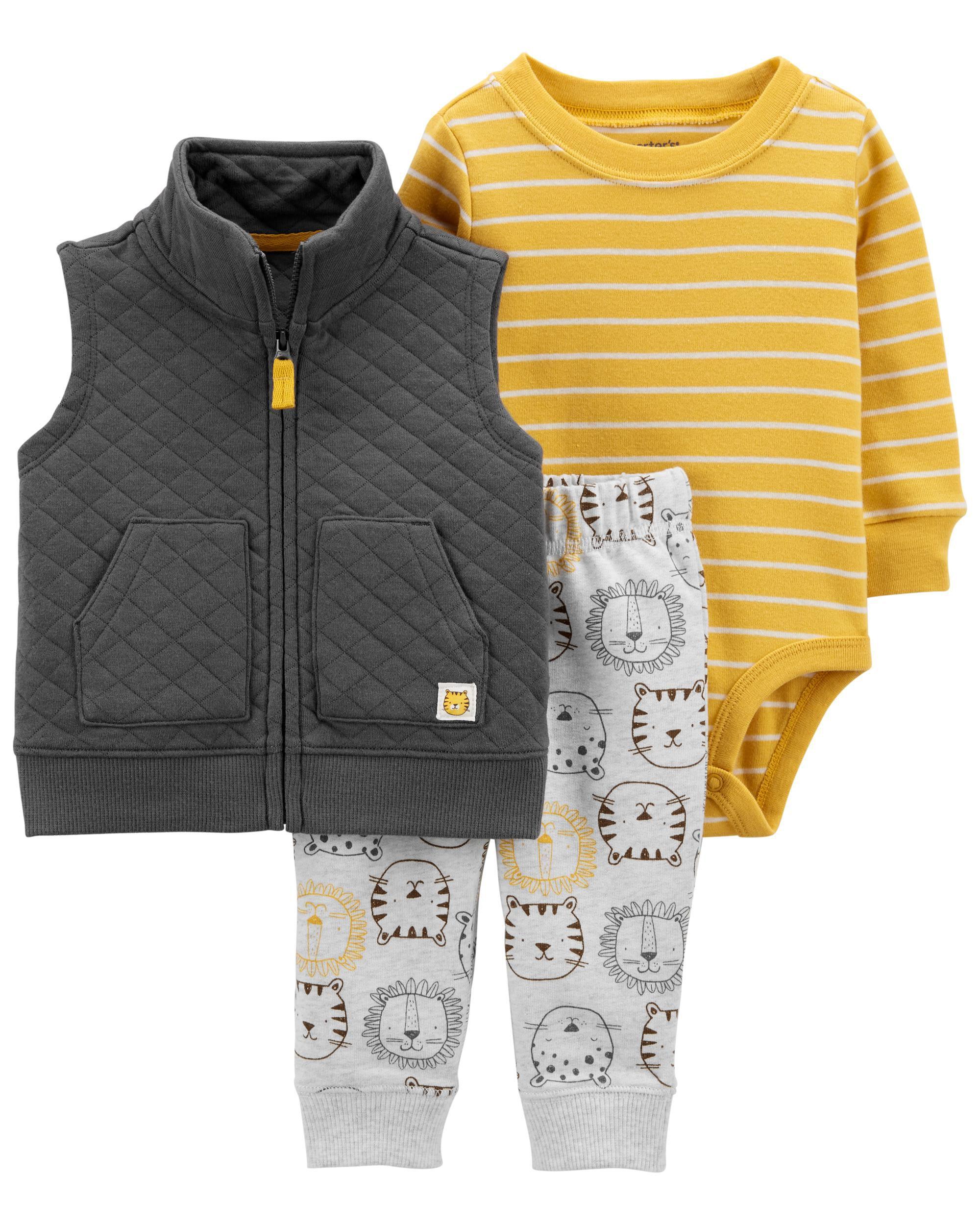 *DOORBUSTER* 3-Piece Lion Little Vest Set