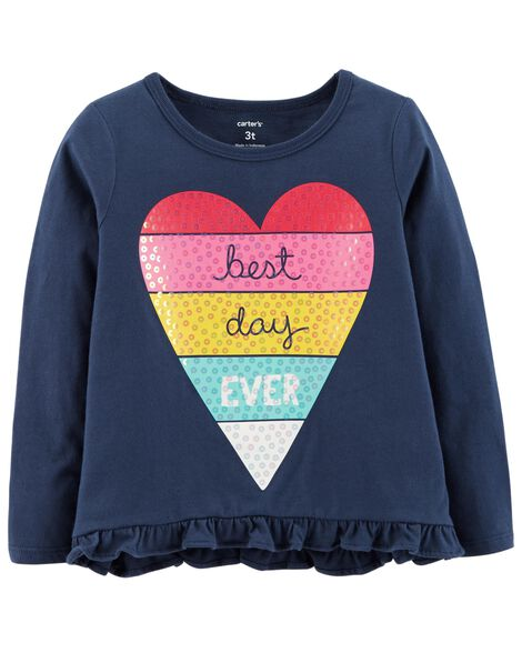 Best Day Ever Hi-Lo Ruffle Tee