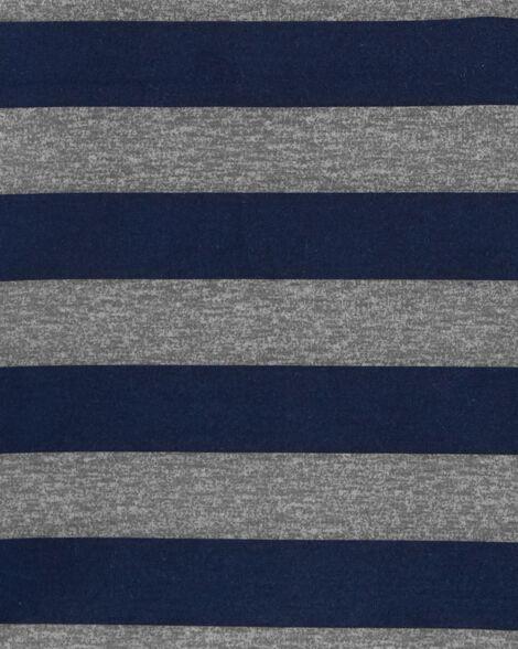 Striped Poly Sleep Tee