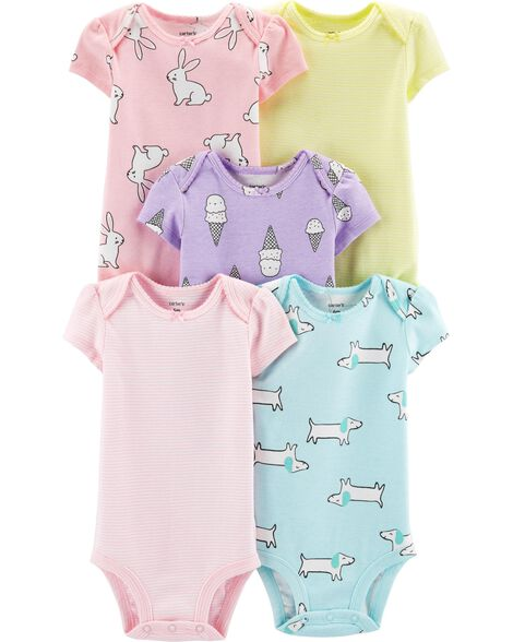 5-Pack Animal & Ice Cream Original Bodysuits