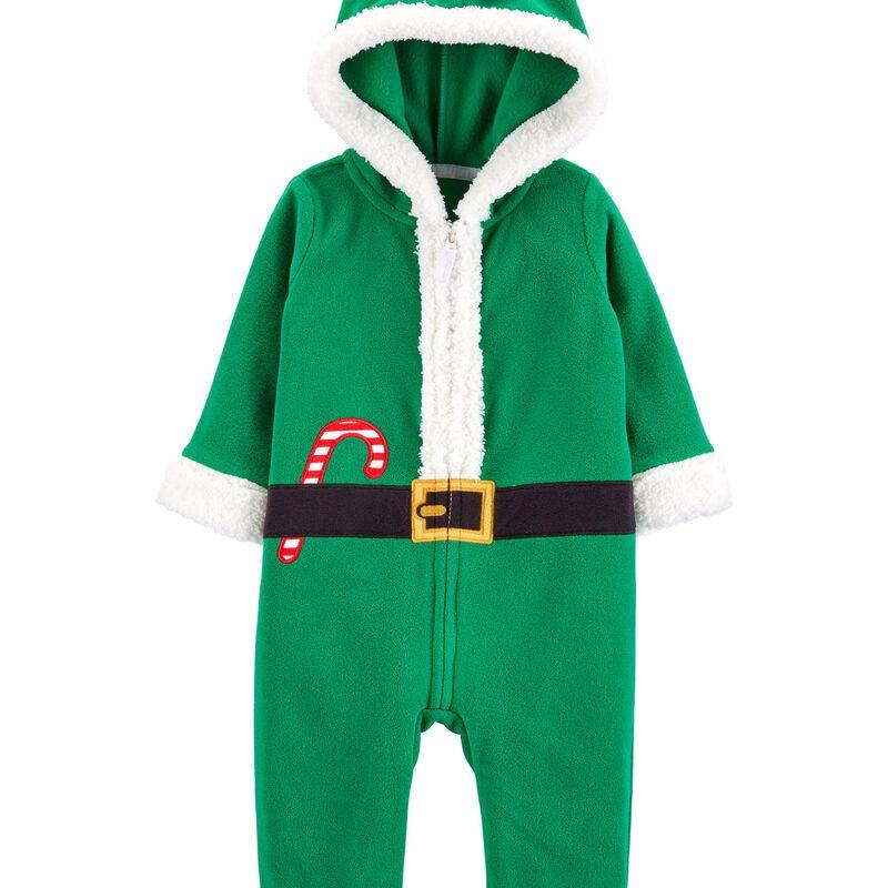 Christmas Elf Zip-Up Jumpsuit   carters.com