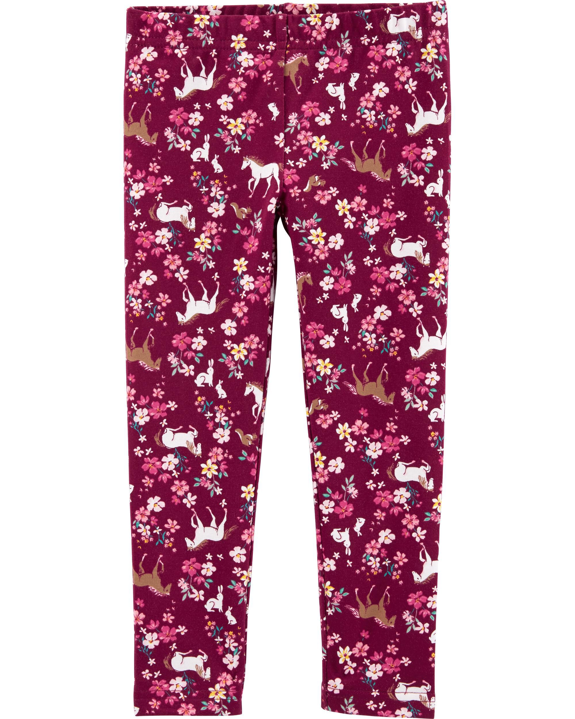 *CLEARANCE* Floral Horse Leggings