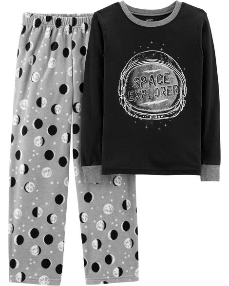 c0b8b5aca1 2-Piece Moon Cotton   Fleece PJs ...