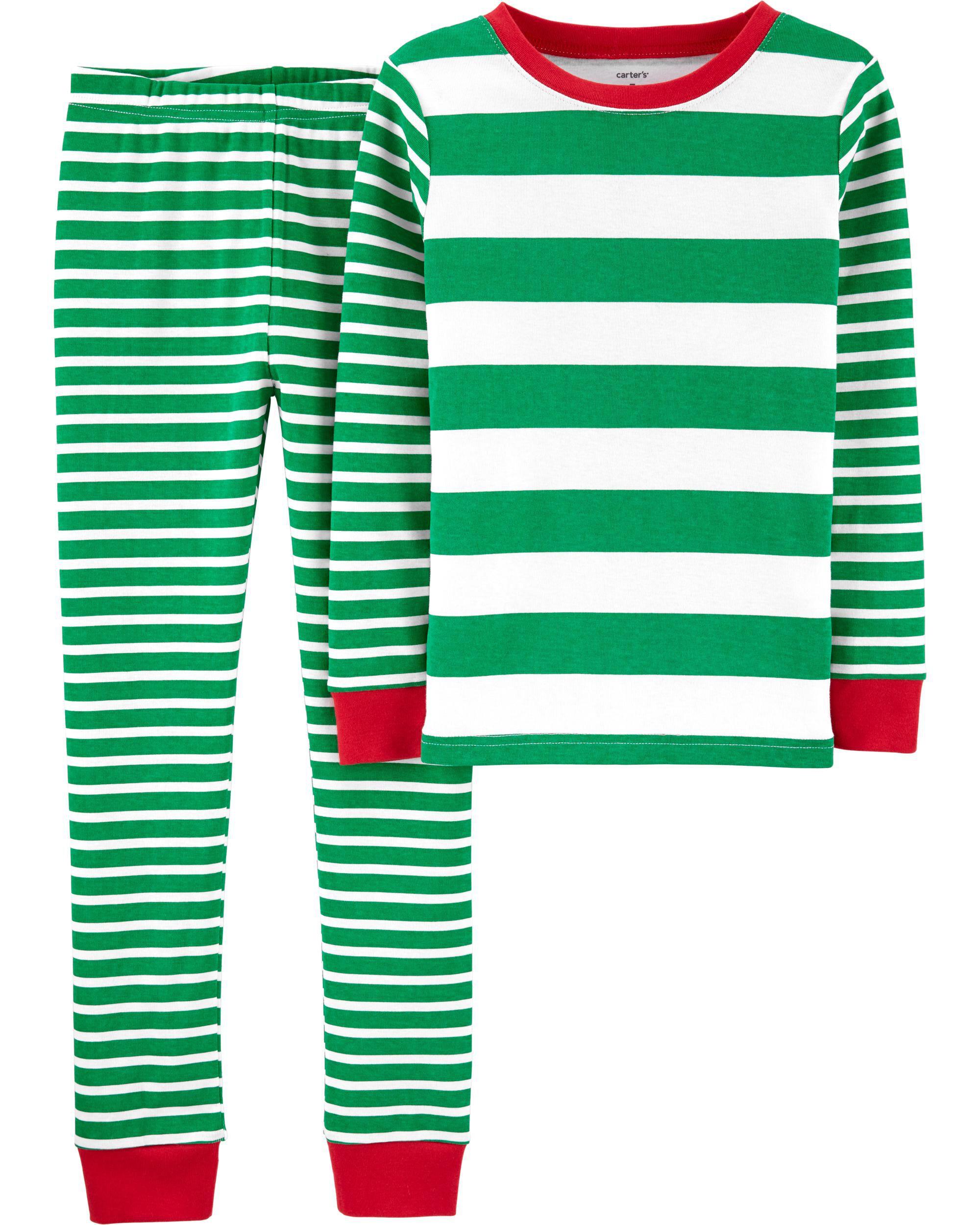 *DOORBUSTER* 2-Piece Striped Snug Fit Cotton PJs