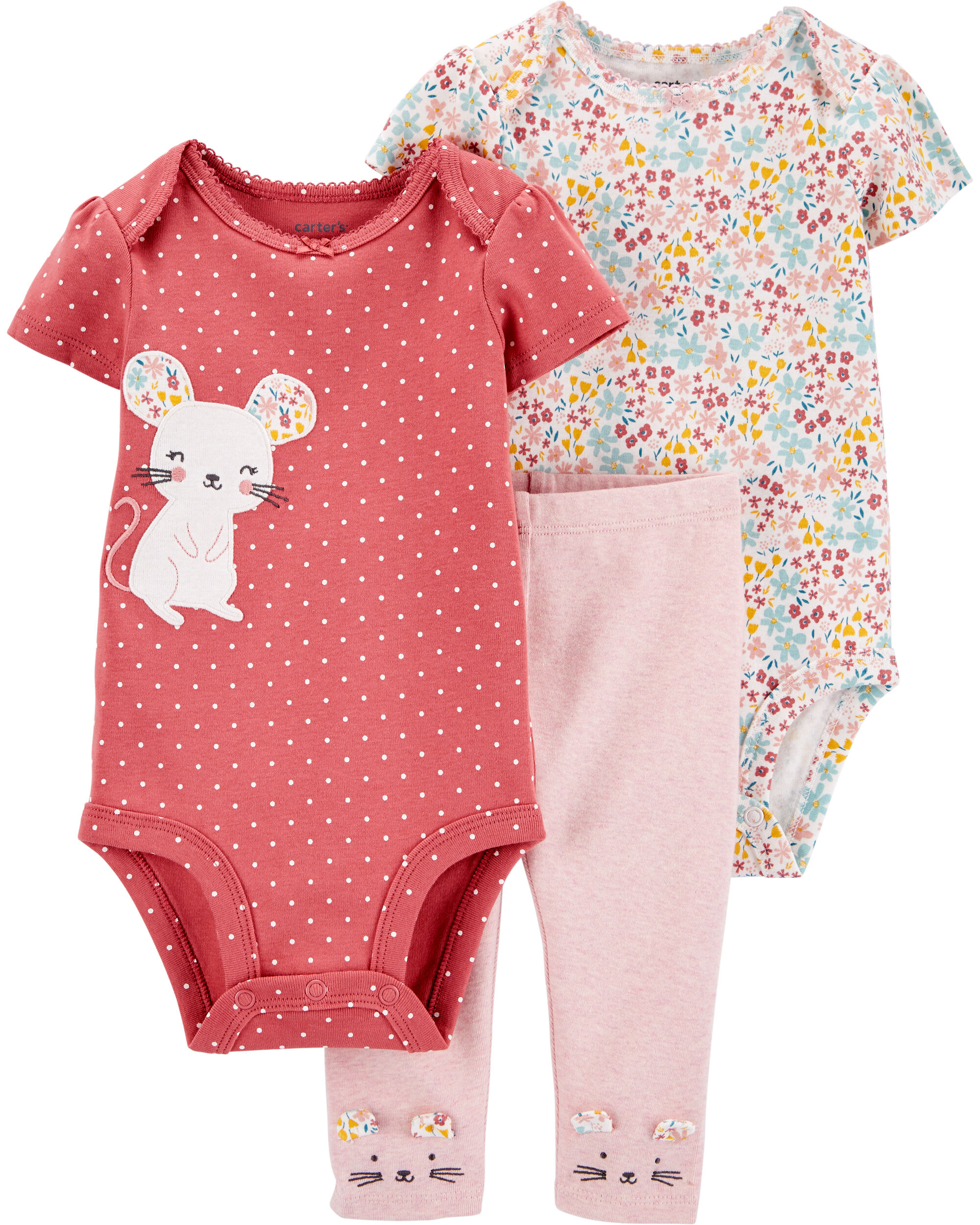 *CLEARANCE* 3-Piece Mouse Little Character Set
