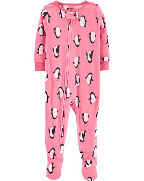 a51e6ee727a1 1-Piece Penguins Fleece PJs