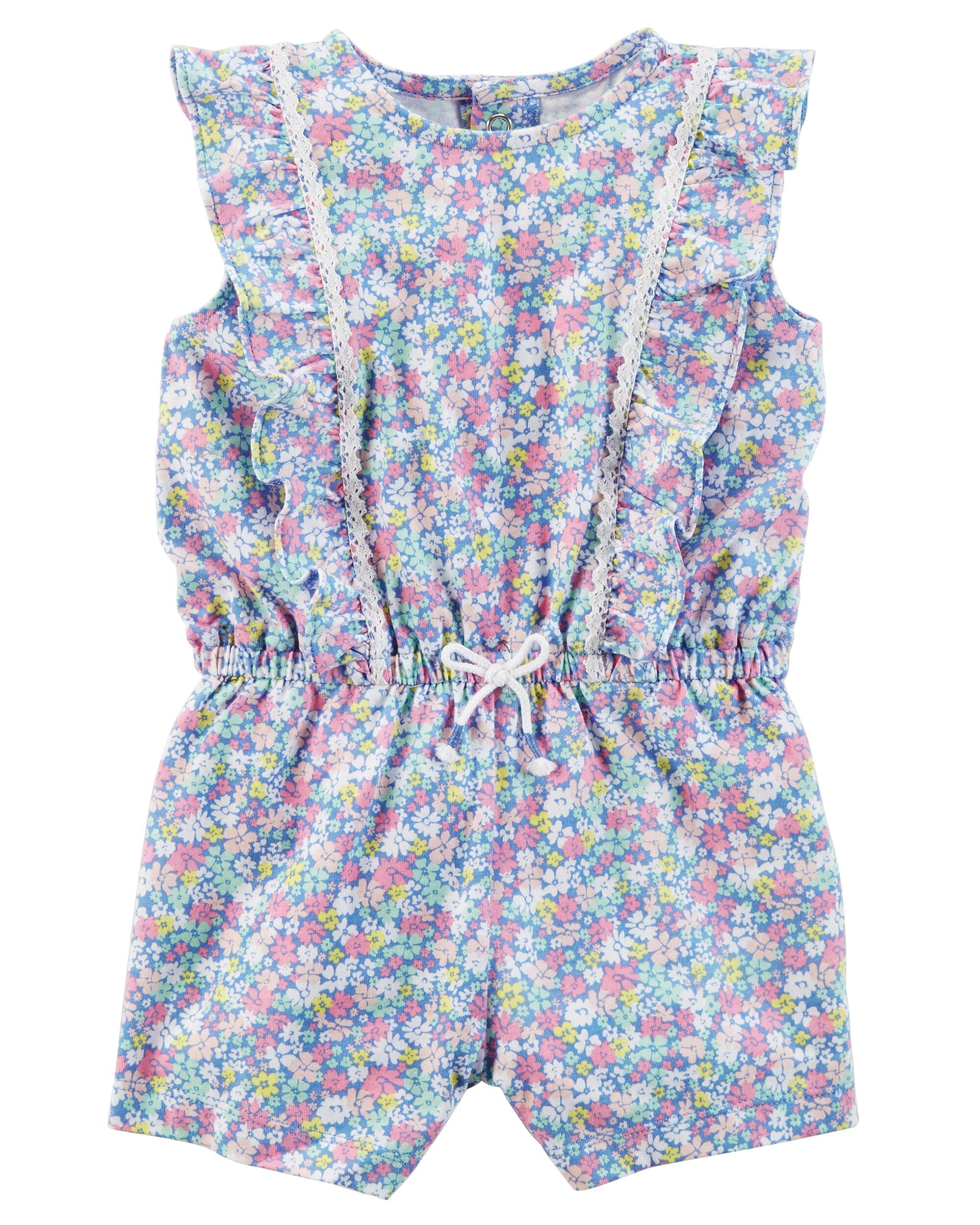 Trustful Kids Girl Clothing Floral Romper New In Bag Girls' Clothing (newborn-5t)