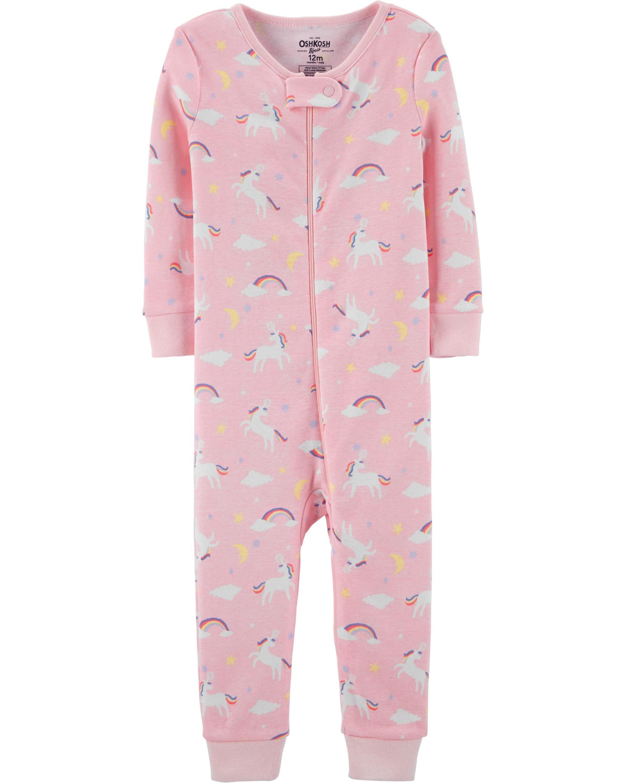 Carters Baby Girls 1-Piece Moon Snug Fit Cotton Pajamas